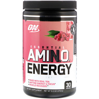 Optimum Nutrition, Essential Amin.O. Energy, Raspberry Black Tea, 9.5 oz (270 g)