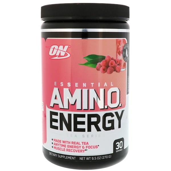 Optimum Nutrition, Amino Energy, Rasberry Black Tea, 9、5 oz (270 g)