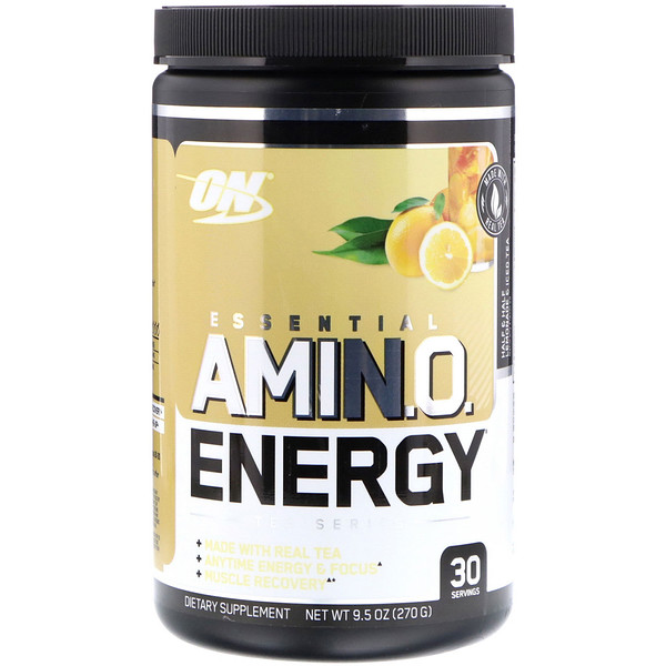 Optimum Nutrition, Essential Amin.O. Energy, Half & Half Lemonade & Iced Tea, 9.5 oz (270 g)