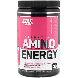 Optimum Nutrition, ESSENTIAL AMIN.O. ENERGY, Juicy Strawberry Burst, 9.5 oz (270 g)