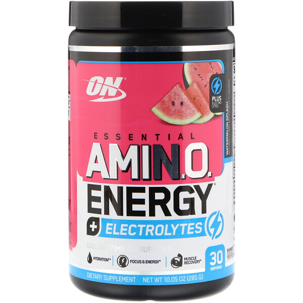 ESSENTIAL AMIN.O. ENERGY + ELECTROLYTES, Watermelon Splash, 10.05 oz (285 g)