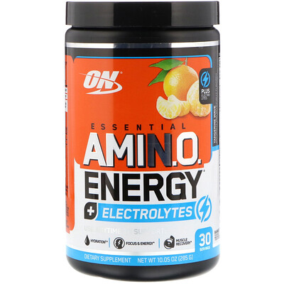 Купить Optimum Nutrition Essential Amino Energy + Electrolytes, Tangerine Wave, 10.05 oz (285 g)