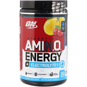 Оптимум Нутришэн, Essential Amin.O. Energy + Electrolytes, Cranberry Lemonade Breeze, 10.05 oz (285 g) отзывы