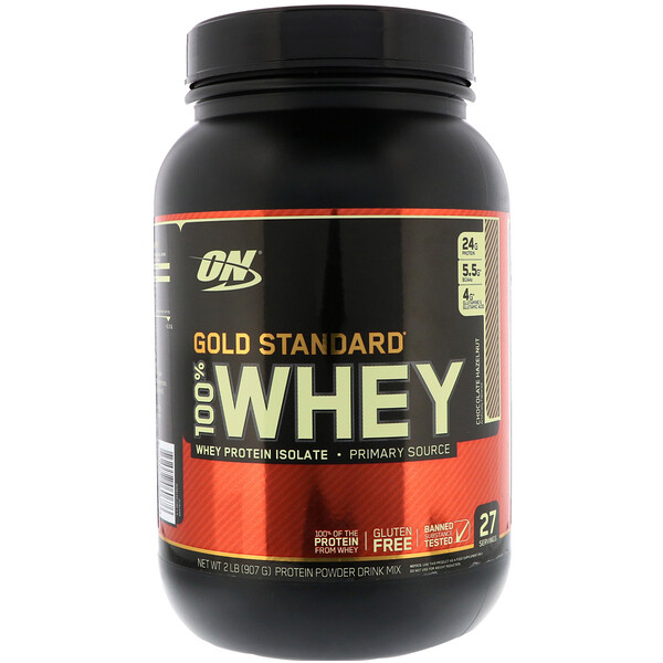 Optimum Nutrition, Gold Standard 100% Whey, Chocolate Hazelnut, 2 lb (907 g)