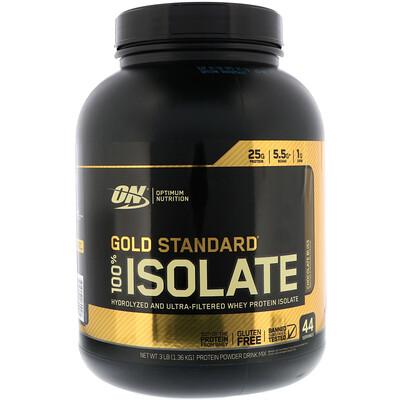 Купить Optimum Nutrition Gold Standard, 100% изолят, Chocolate Bliss, 1, 36 кг (3 фунта)