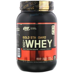Оптимум Нутришэн, Gold Standard 100% Whey, Strawberries & Cream, 1.98 lb (899 g) отзывы покупателей