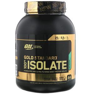 Optimum Nutrition, Gold Standard, 100% Isolate, Mint Brownie, 3 lb (1.36 kg)