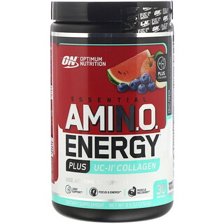 Optimum Nutrition, Энергия незаменимых аминокислот плюс коллаген UC-II, «Фруктовая фиеста», 270г (9,5унций)