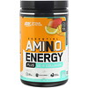 Optimum Nutrition, ESSENTIAL AMIN.O. ENERGY PLUS UC-II COLLAGEN, Mango Lemonade, 9.5 oz (270 g)