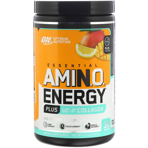 ESSENTIAL AMIN.O. ENERGY PLUS UC-II COLLAGEN, Mango Lemonade, 9.5 oz (270 g)