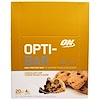 Optimum Nutrition, Opti-Bar High Protein Bar, Chocolate Chip Cookie Dough, 12 Bars - 2.1 oz (60 g) Each