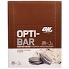Optimum Nutrition, Opti-Bar High Protein Bar, Cookies n' Cream, 12 Bars - 2.1 oz (60 g) Each
