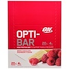 Optimum Nutrition, Opti-Bar High Protein Bar, White Chocolate Raspberry, 12 Bars, 2.1 oz (60 g) Each (Discontinued Item)