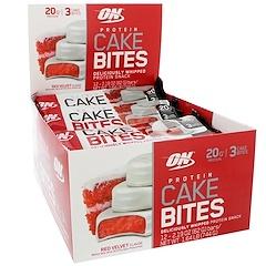 Optimum Nutrition, Protein Cake Bites, Red Velvet, 12 Bars, 2.19 oz (62 g) Each