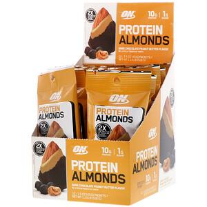 Оптимум Нутришэн, Protein Almonds, Dark Chocolate Peanut Butter, 12 Packets, 1.5 oz (43 g) Each отзывы