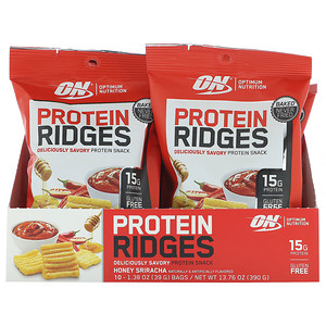 Оптимум Нутришэн, Protein Ridges, Honey Sriracha, 10 Bags, 1.38 oz (39 g) Each отзывы
