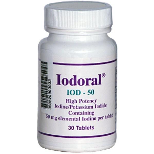 Optimox, Iodoral, IOD-50, 50 mg, 30 Tablets (Discontinued Item)