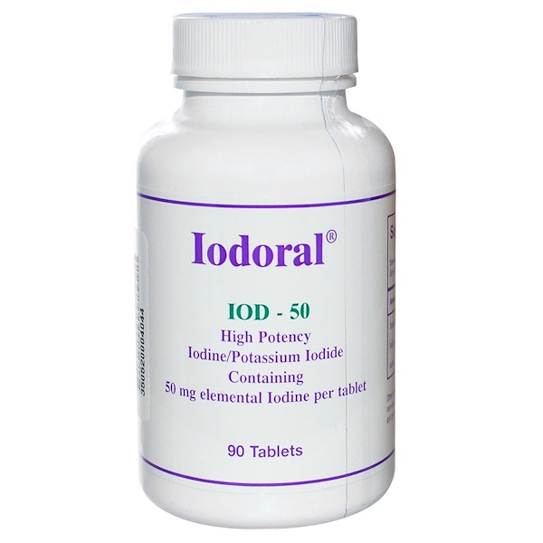 Optimox Corporation, Iodoral, 50 mg, 90 Tablets (Discontinued Item)