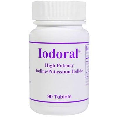 Optimox Iodoral, Йод/йодид калия, 90 таблеток