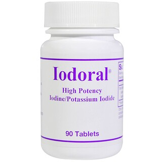 Optimox Corporation, Iodoral, Iodine/Potassium Iodide, 90 Tablets