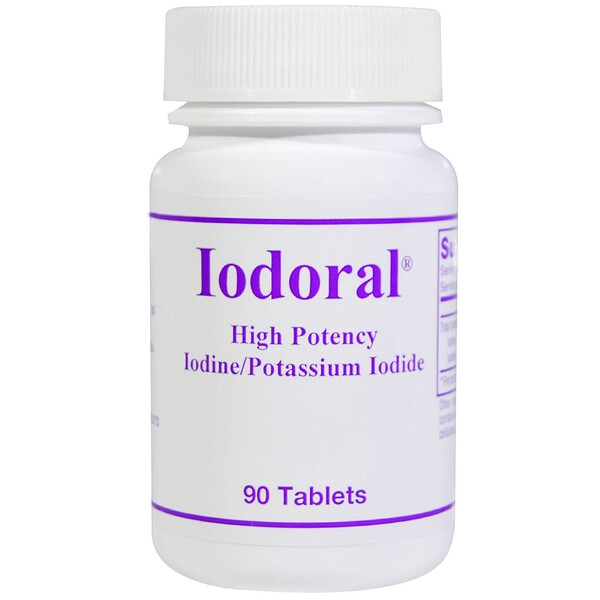 Optimox, Iodoral, Iodine/Potassium Iodide, 90 Tablets