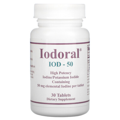 Optimox Iodoral, IOD-50, 50 mg, 30 Tablets
