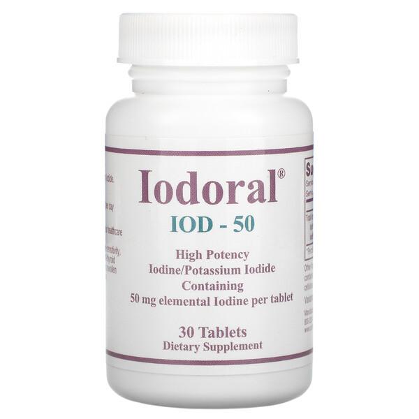 Iodoral, IOD-50, 50 mg, 30 Tablets