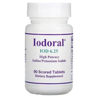 Optimox, Iodoral, IOD, 6.25 mg, 90 Scored Tablets