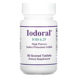 Optimox, Iodoral, ИОД, 6,25мг, 90делимых таблеток