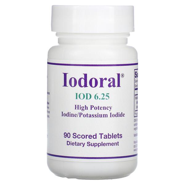 Optimox, Iodoral, IOD 6.25, 90 Scored Tablets