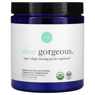 Ora, Aloe Gorgeous, Vegan Collagen-Boosting Powder Supplement, Vanilla , 8.47 oz (240 g)