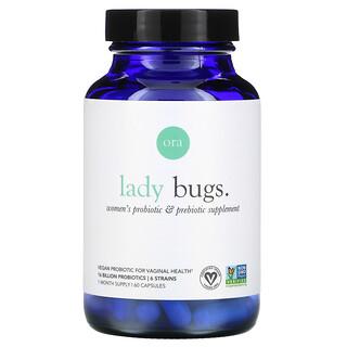 Ora, Lady Bugs, Women's Probiotic & Prebiotic Supplement, 60 Capsules