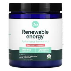 Ora, 可新生能量,鍛鍊前表現,樹莓檸檬水,0.44 磅(200 克)