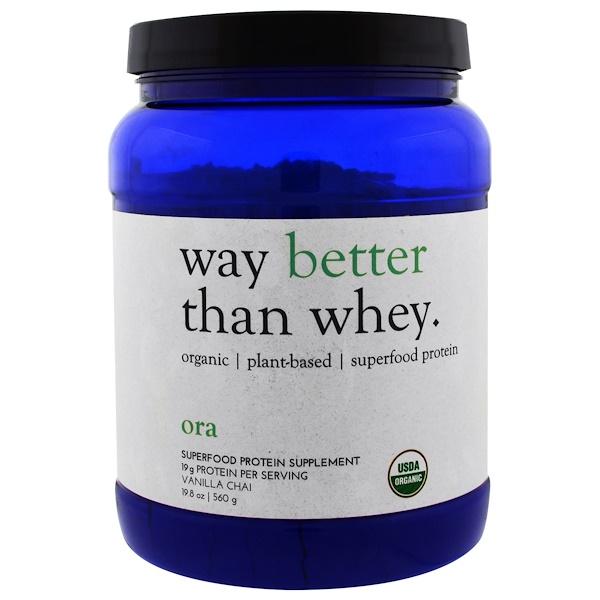 Ora, Way Better Than Whey, Vanilla Chai, 19.8 oz (560 g) (Discontinued Item)