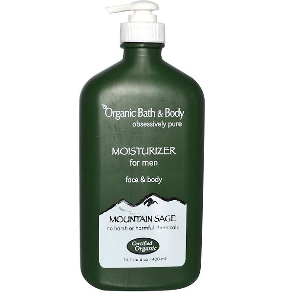 Fresh Organics, Organic Bath & Body, Moisturizer for Men, Face & Body, Mountain Sage, 14.2 fl oz (240 ml) (Discontinued Item)