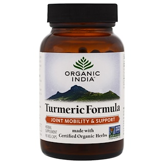 Organic India, Turmeric Formula, Joint Mobility & Support, 90 Veggie Caps