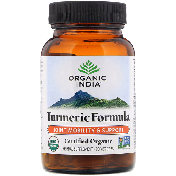 Organic India, Turmeric Formula, Joint Mobility & Support, 90 Veg Caps