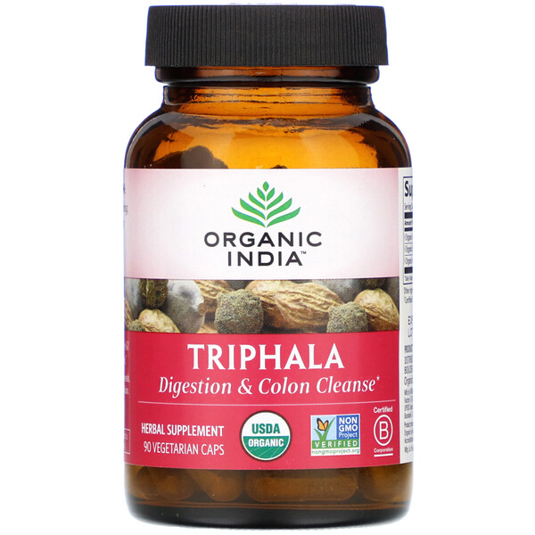 Organic India, Triphala, 90 Vegetarian Caps