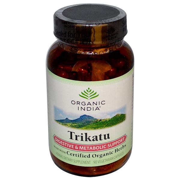 Organic India, Trikatu, Digestive & Metabolic Support, 90 Veggie Caps