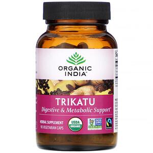 Органик Индиа, Trikatu, 90 Vegetarian Caps отзывы покупателей