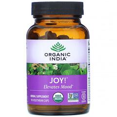 Organic India, Joy, Elevates Mood, 90 Veg Caps