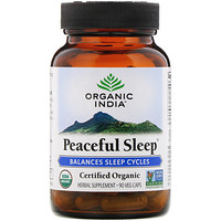 Organic India, Peaceful Sleep, 90 Veg Caps