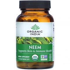 Organic India, 有機,印楝,90 素食膠囊