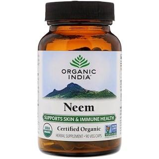 Organic India, Orgánico, Neem, 90 cápsulas vegetales
