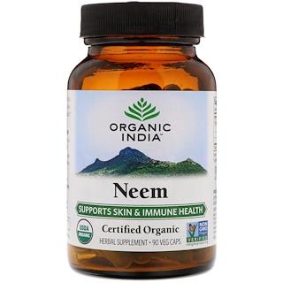 Organic India, عضوي، نيم، 90 كبسولة نباتية