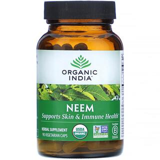 Organic India, نيم شائع، 90 كبسولة نباتية