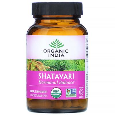 Купить Organic India Шатавари, 90вегетарианских капсул