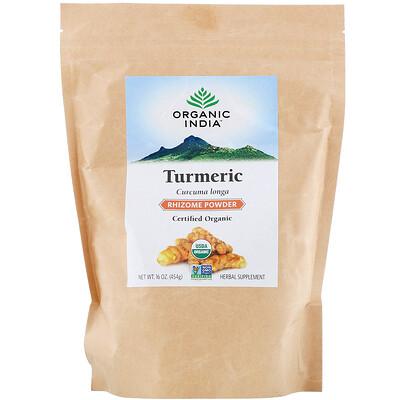 Купить Organic India Turmeric Rhizome Powder, 16 oz (454 g)