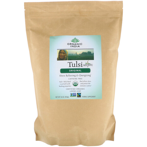 Organic India, Tulsi Loose Leaf Tea, Original, Caffeine-Free, 16 oz (454 g)