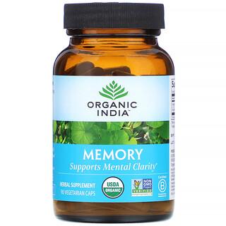 Organic India, Memory, 90 Vegetarian Caps